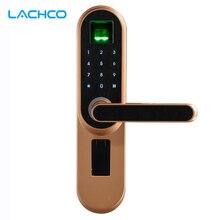 LACHCO биометрический электронный дверной замок, код, ключ сенсорный экран цифровой пароль Fingerprin умный дверной замок без ключа вход L19013F