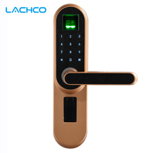 LACHCO Biometric Electronic Door Lock , Code, Key Touch Screen Digital Password Fingerprin Smart door Lock keyless entry L19013F