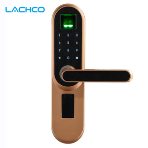Image 1 - LACHCO biyometrik elektronik dış kapı kilidi, kod, anahtar dokunmatik ekran dijital şifre parmak izi akıllı kapı kilidi anahtarsız giriş L19013F
