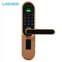 Биометрический электронный дверной замок LACHCO, код, сенсорный экран, цифровой пароль, отпечаток пальца, умный дверной замок, БЕСКЛЮЧЕВОЙ вход L19013F