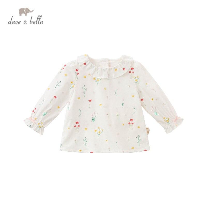 DBJ16670, демисезонная Модная рубашка с цветочным принтом и бантом для маленьких девочек, топы для малышей, детская одежда высокого качества|Блузки и рубашки| | АлиЭкспресс