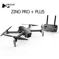 Hubsan Zino PRO + Plus GPS 5G WiFi 8KM FPV mit 4K 30fps UHD Kamera 3-achsen Gimbal 43 minuten Flugzeit RC Drone Quadcopter