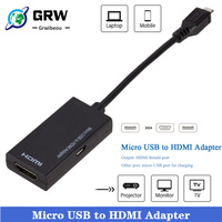 Micro USB 2.0 to HDMI-compatible Cable HD 1080P For Android For Samsung/HTC/LG Android Converter Mini Mirco USB Adapter