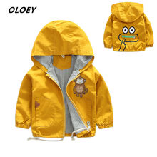 2019 New Windbreaker Jacket For Girls Childrens Autumn Outerwear A Boy Baby Coat Hooded Cartoon Clothes