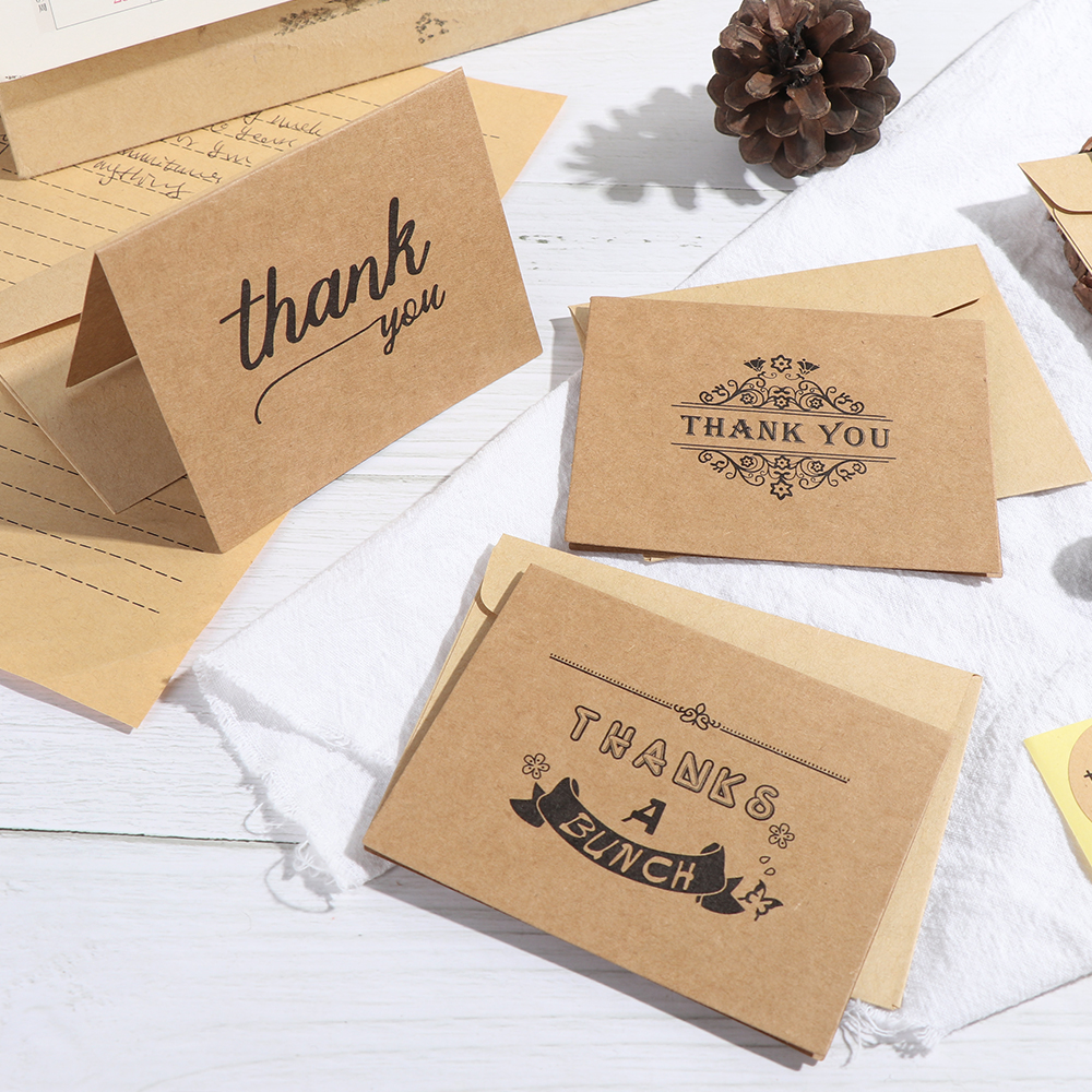 Handmade Kraft Thank You Card Thank You Card Greeting Card Distressed Greeting Card Rustic Card Primitive Thank you Card