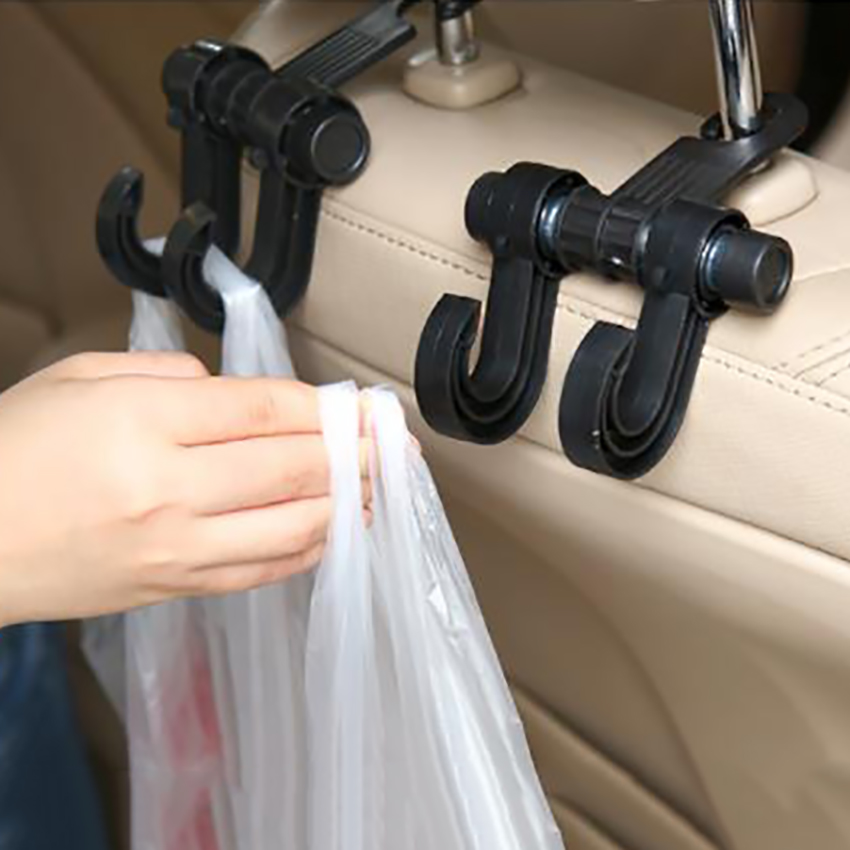 Creative Multi-functional Universal Auto Car Seat Headrest Bag Hook Holder, Clip Hanger To Storage Grocery Cloth Bag Purse