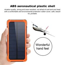 Portable Solar Power Bank 20000MAH Large Capacity Mobile Phone Battery Charger Power Supply Dual USB Ports With Holder 20000mah solar power bank dual usb powerbank waterproof external battery portable solar battery charger charging with led light