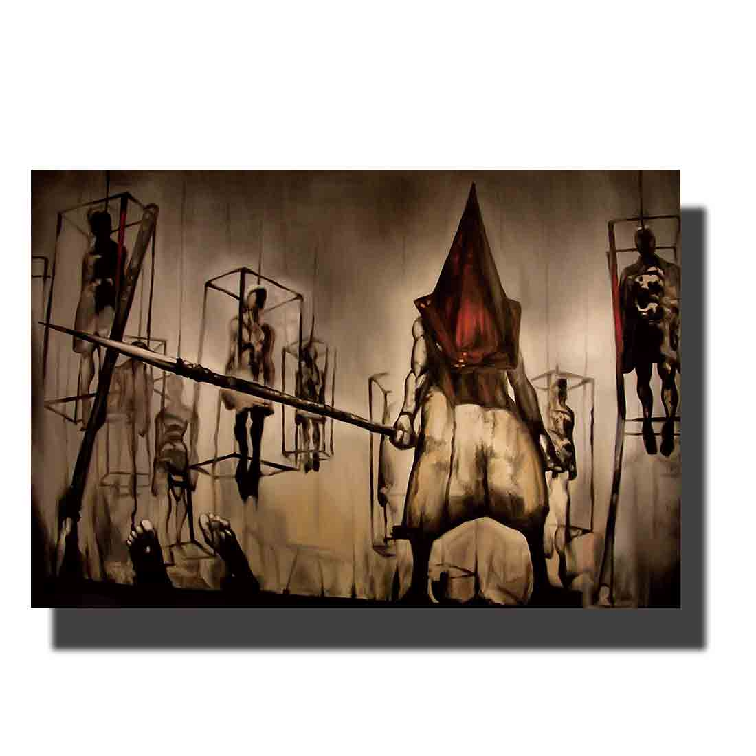 L611 Art Silent Hill - dark evil head homecoming TV Game Poster fabric painting14x21 24x36 print Decoration Room wall Picture image
