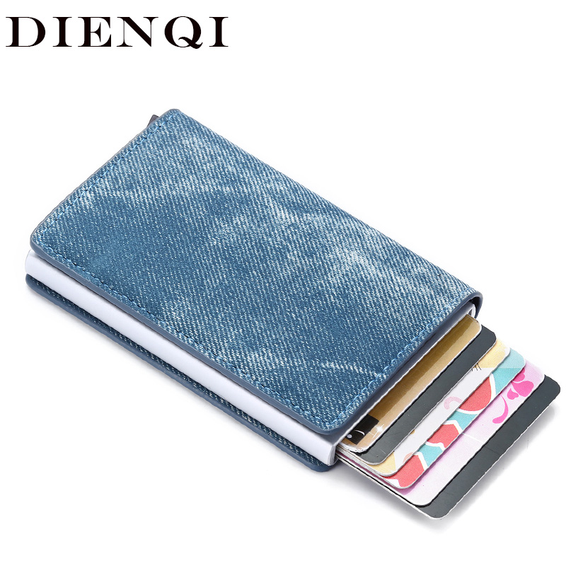 DIENQI-carte Rfid, portefeuille en cuir minimaliste pour hommes, portefeuille mince à la mode, sac à main magique pour hommes, Mini-portefeuille 2020
