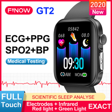 Smartwatches Support SPO2 Health Finow GT2 Full-Touch-Screen Ecg Ppg Blood-Oxygen BP