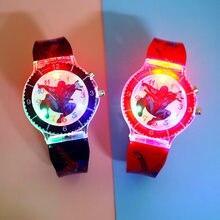 Cartoon Super hero Kinder Uhren Bunten Flash-Licht mit musik Kinder Uhr Jungen Party Geschenk Uhr Handgelenk relogio infantil