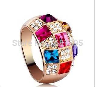 Mode Hohe qualität Österreichischen Kristall Symphonie Edle Klassische Ring weibliche modelle Schmuck Geschenk kristall schmuck