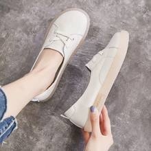 Dadong shallow mouth single shoes female student foreign style small white shoes breathable soft soled flat soled female shoes