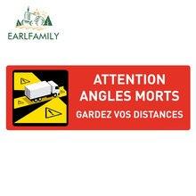 EARLFAMILY 13cm x 7.6cm uwaga kąty Morts naklejki samochodowe zachowaj odległość od ciężarówki naklejki zderzak ciężarówka VAN RV Decor