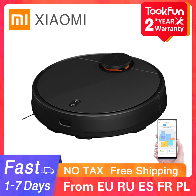 New XIAOMI Sweeping Mopping Robot Vacuum Cleaner STYTJ02YM for Home Automatic Dust Sterilize Smart Planned WIFI Cyclone suction