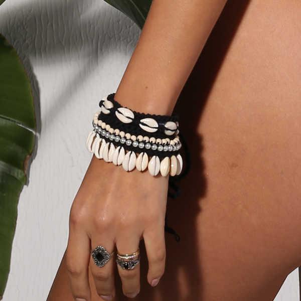Ślub Ivory Crochet boso sandały biżuteria na stopy wiktoriańska koronka Bridal Shell Anklet naszyjnik bransoletka akcesoria plażowe