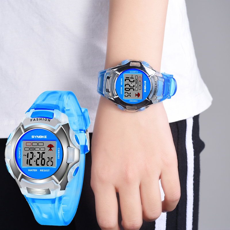 SYNOKE Children Digital Watches Boys Girls Gifts LED Sports Waterproof Students Alarm Date Casual Kids Electronic Watch