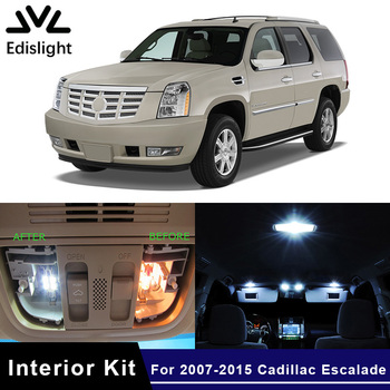 Edislight 17Pcs Canbus No Error LED Lamp Car Bulb Interior Package Kit For 2007-2015 Cadillac Escalade Map Dome Door Plate Light 1