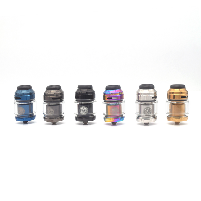 Zeus X RTA Tank With 810 Drip Tip 4.5ml Capacity Single/Dual Coil Building Top Airflow Atomizer 25mm Fit 510 Mods Ecig Vape Pen