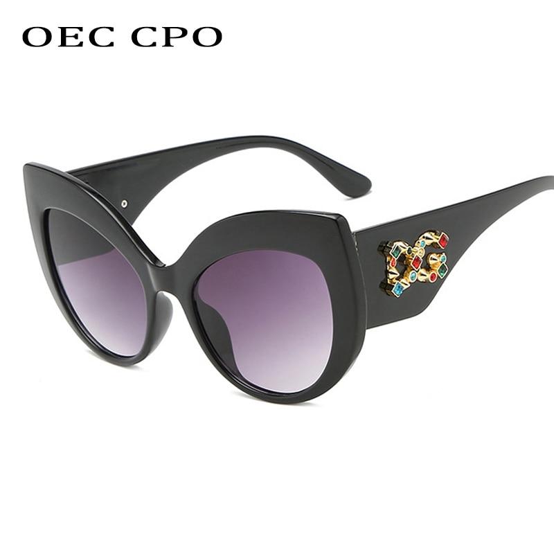 Sunglasses Women Oculos Tinted-G Diamond Designer Vintage Brand Cat-Eye High-Fashion