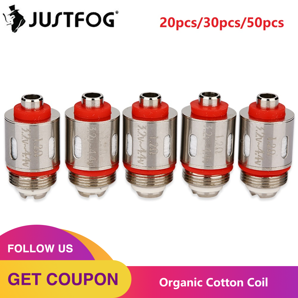 20/30/50pcs JUSTFOG Coil Head Core 1.2ohm/1.6ohm For Justfog C14 Q14 Q16 P16A P14A Kit Atomizer Justfog Electronic Cigarette