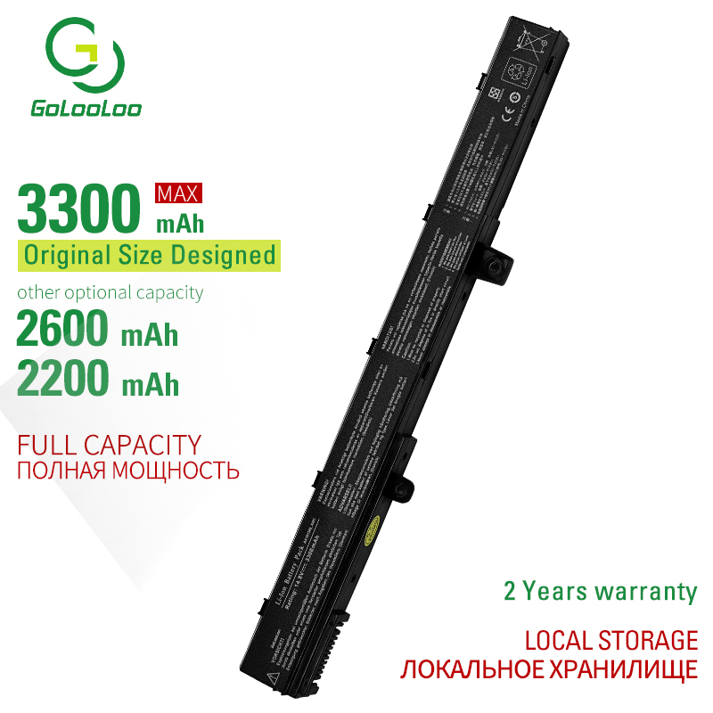 Golooloo 4 cells laptop battery for Asus A31LJ91 A31N1319 A41N1308 0B110-00250100M X45LI9C YU12008-<font><b>13007D</b></font> YU12125-13002 image
