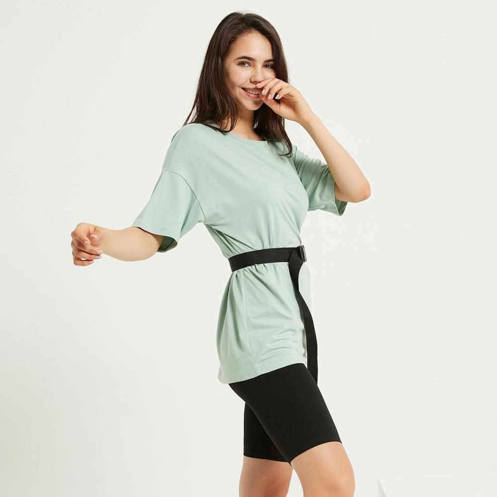 Wixra Womens Suits Leisure Wear Suit With Sashes Short Sleeve Tee+Shorts Casual Wear Womens Two Pieces Sets Summer 4