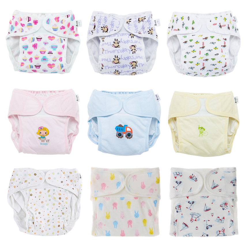 Baby Reusable Diaper Panties Cloth Diapers for Children Training Panties Adjustable Size Washable Breathable Ecological Diaper