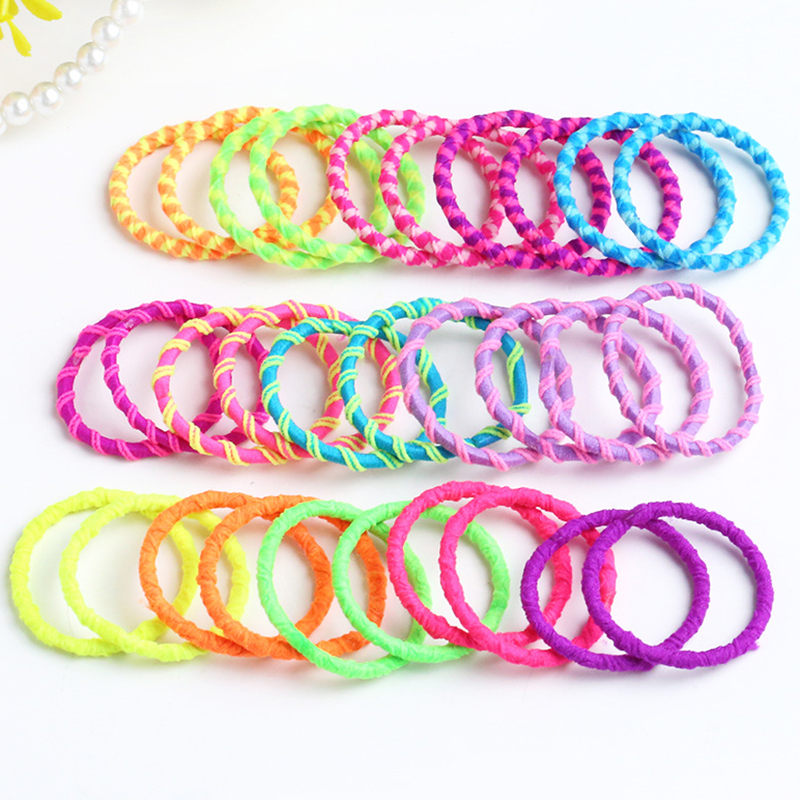 100 Pcs/set Girls Hair Accessories Baby Small Rubber Band Color Baby Hair Rope Girl Head Rope Does Not Hurt Hair Headdress