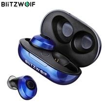 BlitzWolf BW FYE5 บลูทู ธ 5.0 TWS จริงไร้สายหูฟังหูฟังขนาดกระเป๋ากีฬาหูฟังไฮไฟเบสหูฟังสเตอริโอเสียงหูหูฟังเรื่อย ๆ เสียงยกเลิกหูฟังแบตเตอรี่ยาว