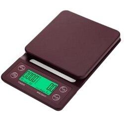 5Kg/0.1G waga do kawy kroplówki z zegarem przenośna elektroniczna cyfrowa waga do kawy waga kuchenna o wysokiej precyzji LED waga elektroniczna w Wagi kuchenne od Dom i ogród na