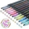 12PCS Graffiti Doodle Pens DIY Glitter Double Line Outline Pens Arts Drawing