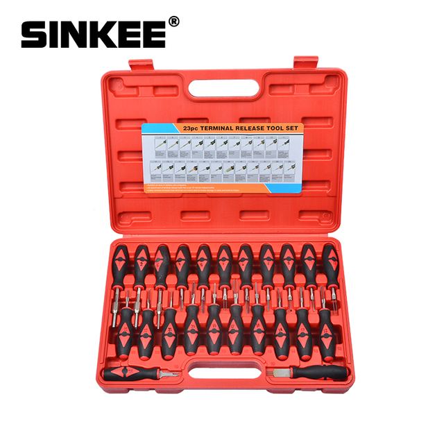 23pcs Car Universal Terminal Release Removal Tool Set Automotive Wiring Connector Crimp Pin Extractor For BMW Ford VW SK1549