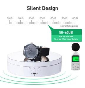 Image 3 - Fotografía 360 grados redondo rotación automática remoto automáticamente tocadiscos joyería pantalla soporte base para foto estudio de disparo accesorios de fotografía para estudio de fotos Caja joyería pantalla Base