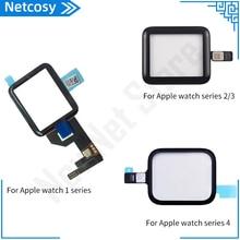 หน้ากระจกสัมผัสหน้าจอDigitizer RepairสำหรับApple Watch Series 1 2 3 4 38 มม.42 มม.40 มม.44 มม.Touchscreenอุปกรณ์เสริม