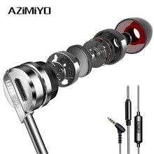 AZiMiYO D5 Zinc Alloy HIFI หูฟังโลหะ Micro In Ear หูฟังความละเอียดสูงเสียงชุดหูฟังแบบมีสายหูฟัง