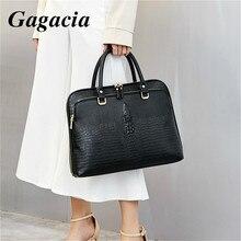 GAGACIA moda iş kadın çanta deri evrak çantası kadın dizüstü bilgisayar 14 çanta bayanlar ofis iş banliyö çantası