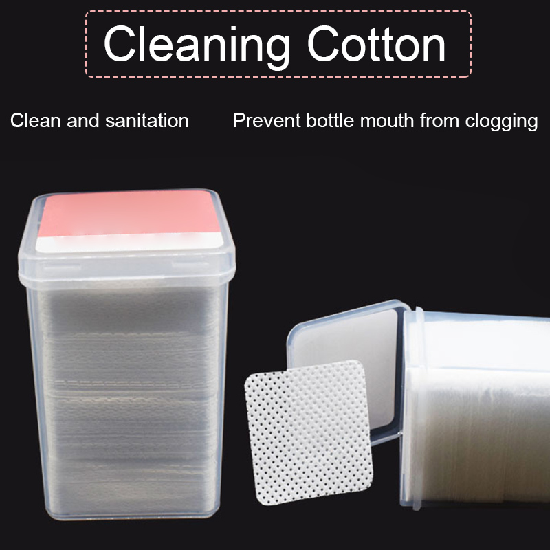 180Pcs Lint-Free Nail Polish Remover Cottons Pads Soft Wipes Cleaner For UV Gel Varnish  Nail Art Tools DIY Design