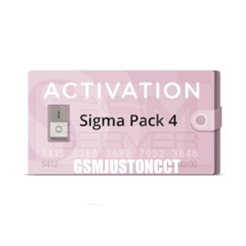 2019 New Sigma Pack4 / Sigma Pack 4 Activation Used To Activate The Sigma Box And Sigma Key Dongle