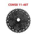 Велосипедная кассета SunRace CSMS8 11-46T 11-51T CSMX8 11-46T 11-51T с широким соотношением, горный велосипед, свободное колесо