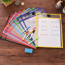 4Pcs/Set Transparent Dry Brush Bag Kids Drawing Board DIY Painting Doodle Coloring Learning Educational Toys For Children Gifts