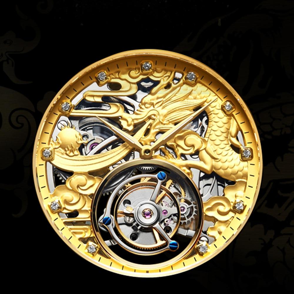 New GUANQIN Original Tourbillon watch men top brand luxury waterproof skeleton Sapphire Mechanical Tourbillon relogio masculino 5