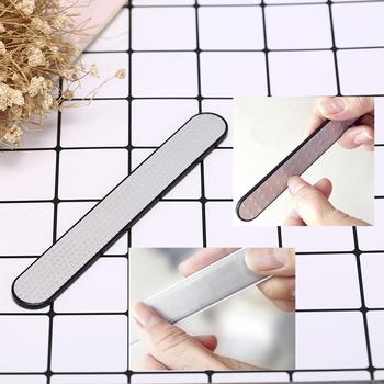Pilniki ze stalowymi ćwiekami dwustronne szorstkie pilniki do paznokci polerowanie szlifowanie mocne piły narzędzia do paznokci tanie i dobre opinie CN (pochodzenie) 1pcs Pilnik do paznokci 17 8*2 8*1 2cm Nail polishing file