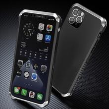 מלא הגנת טלפון מקרה עבור iPhone 12 מיני 11 פרו מקסימום X XS MAX XR 5 5S SE 6 6S 7 8 בתוספת אלומיניום מסגרת + קשיח מחשב כיסוי Coque