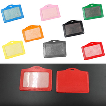 Pu-Card-Holder Chest-Card Badge-Holder--Accessories Transverse-Style New Entrance-Guard-Card