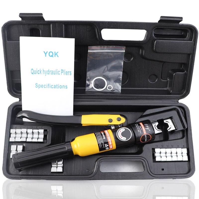 Гидравлический обжимной инструмент Гидравлические Обжимные Щипцы гидравлические компрессионные инструменты YQK-70 диапазон 4-70 мм давление ...