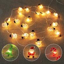 2 м 20 светодиодов мини Рождественская гирлянда с аккумулятором