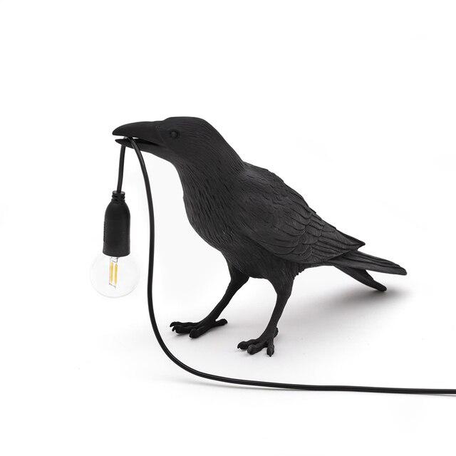 Italian Seletti Bird Wall Lamp Modern LED Wall Sconce Light Fixtures Bedroom Bedside Wall Light Crow bird Stand Light Home Deco