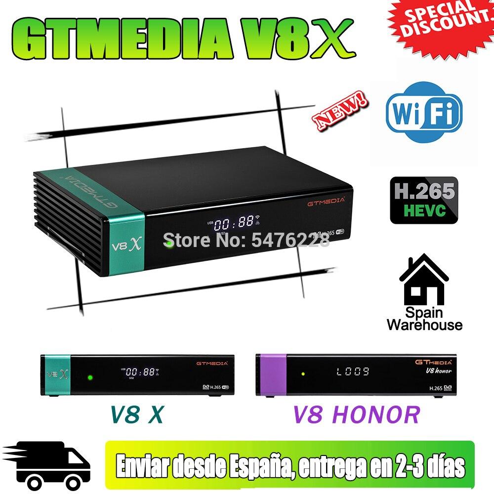Оригинальный GTmedia V8X hd 1080P-цифра спутниковый телевизионный ресивер обновлен GTmedia V8 Nova DVB-S2 H.265 GT медиа V8 honor и встроенным модулем Wi-Fi нет приложе...