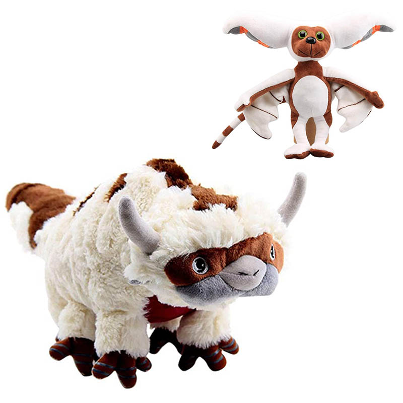 28/45/55CM <font><b>The</b></font> <font><b>Last</b></font> <font><b>Airbender</b></font> <font><b>Avatar</b></font> Appa Plush Toy Soft Stuffed Animals Cattle Doll Children Toys Gift for Children image